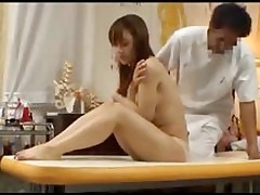 japanese massage client takes boner asian brunette doggy style hardcore
