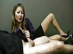 propitious employee attains tugjob lady boss amateur asian cumshot femdom