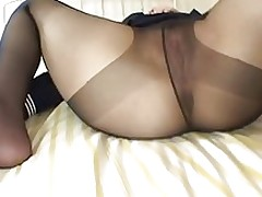 chinese ejected cock cream asian lingerie stockings