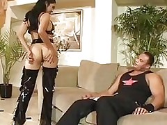 mika tan takes raw sledge hammer asian interracial latex
