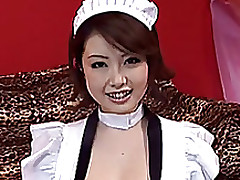 cosplay porn: cosplayer hamasaki part wig hair maid costume boobs
