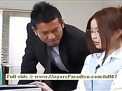 risa kasumi office worker enjoys workers asian blowjob teen