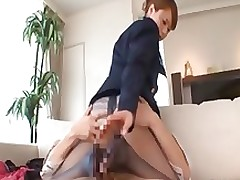 japanese foot job mattress asian brunette fetish hardcore uniform