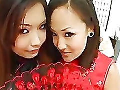 chinese anal lesbian oriental lesbo smokin turns toys butts giving