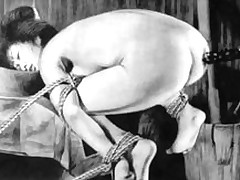slaves rope japanese art uncanny subordination strong painful brutal drilling