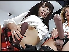 fairy haired milf femdom japanese infant submits chap asian strapon
