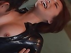 haneda appealing milf latex clothing love submission game blowjob bondage
