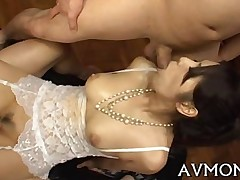 blowjob hardcore shaved asian japanese lingerie mature milf