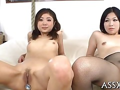 anal blowjob hardcore asian dildo japanese pantyhose small tits toy